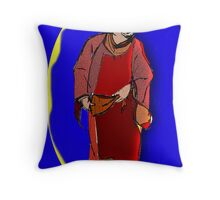 The Patron Man of Means Throw Pillow