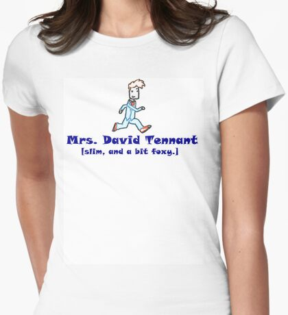 mrs. david tennant. Womens Fitted T-Shirt