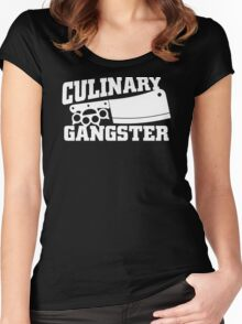 Culinary Gangster Chef Women's Fitted Scoop T-Shirt