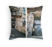 Glasgow School Of Art Entrance Throw Pillow