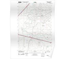 USGS Topo Map Oregon Hermiston 20110903 TM Poster