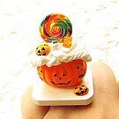 Halloween Candy Jack O Lantern Pumpkin by souzoucreations