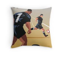 Kickoff  Rugby New Zealand Throw Pillow