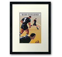 Kickoff  Rugby New Zealand Framed Print