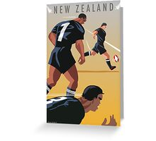 Kickoff  Rugby New Zealand Greeting Card