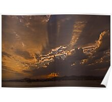 Interesting sky over Ibiza. Poster