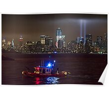 9/11 tribute of lights Poster