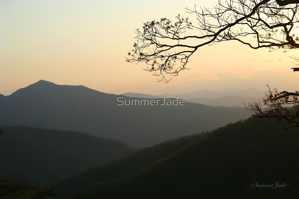 Smoky Mountain Misty Sundown by SummerJade