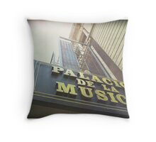 Old Cinema in Madrid Throw Pillow