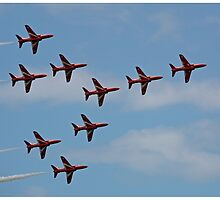 The Red Arrows perfect arrow by Tony Steel