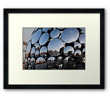 Golden Casket Mirror Ball Framed Print