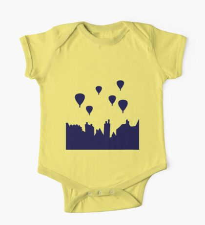 Hot air balloon over the rooftops One Piece - Short Sleeve