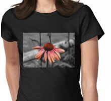 Perennial Harmony Sunset Echinacea Womens Fitted T-Shirt