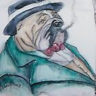 English Bulldog by Linda Costello Hinchey