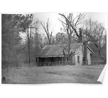 Old Homestead - Rural Alabama Poster