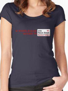 Lost Sherlock? Women's Fitted Scoop T-Shirt