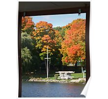 Fall day on the lake Poster