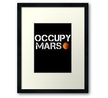 Occupy Mars Black Framed Print