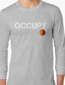Occupy Mars Black Long Sleeve T-Shirt