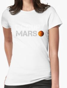 Occupy Mars Black Womens Fitted T-Shirt