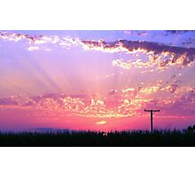 Sunset Streaks Photographic Print
