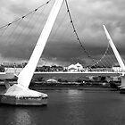 Peace Bridge, Derry, N. Ireland by Agnes McGuinness