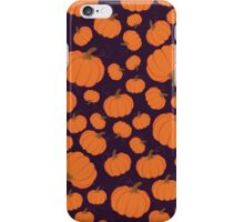 Purple pumpkin patch iPhone Case/Skin