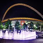 Wembley Stadium & Fountain by Ian Berry