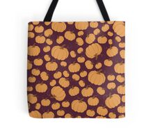 Maroon Pumpkin Patch Tote Bag