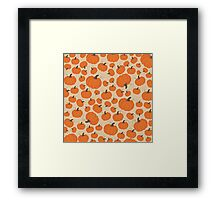 Cream Pumpkin Patch Framed Print