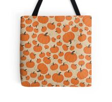 Cream Pumpkin Patch Tote Bag