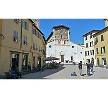 Piazza in Lucca Photographic Print