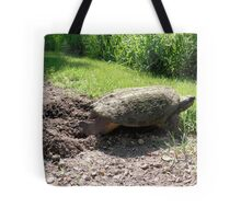 Snapping Turtle burying her eggs Tote Bag