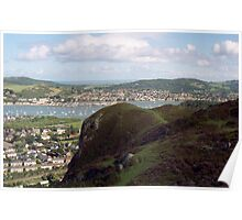 Conwy harbour from the mountain. Poster