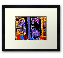 A Colorful Place to Cry and SCREAM Framed Print