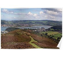 Conwy Castle  from above. Poster