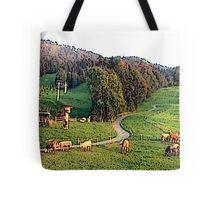 """Grazing In The Alps - Koblach, Austria"" Tote Bag"