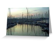 """Sailboats - Rotterdam, Netherlands"" Greeting Card"