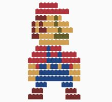 8-bit brick mario  Kids Clothes