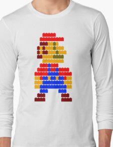 8-bit brick mario  Long Sleeve T-Shirt