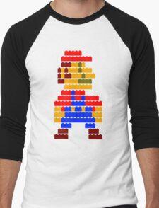 8-bit brick mario  Men's Baseball ¾ T-Shirt