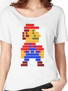 8-bit brick mario  Women's Relaxed Fit T-Shirt