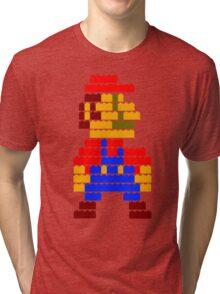 8-bit brick mario  Tri-blend T-Shirt