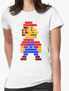 8-bit brick mario  Womens Fitted T-Shirt