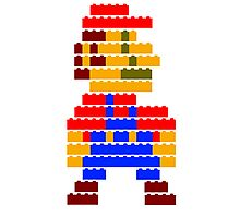 8-bit brick mario Photographic Print