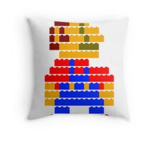 8-bit brick mario Throw Pillow