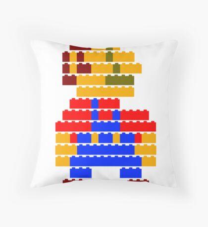 8-bit brick mario Throw Pillow