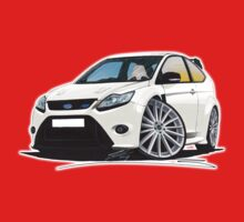 Ford Focus RS (Mk2) White One Piece - Short Sleeve