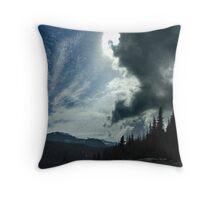 Winter Sky, Mount Washington Throw Pillow