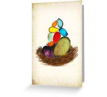 My Colorful Bird Babies Greeting Card